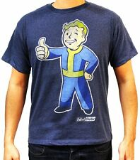 Cool Collectable Shirts! Fallout Vault Boy Thumbs Up Boy's Blue T-Shirt
