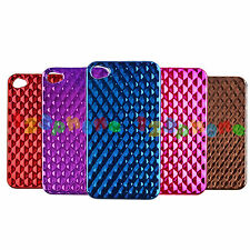 BRAND NEW ELECTROPLATED RHOMBUS HARD BACK COVER CASE FOR IPHONE 4 / 4S