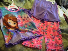 NWT SZ 3T 4T  DISNEY PRINCESS SOFIA THE FIRST   TOP SHORTS PANTS PAJAMAS