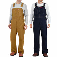 Dickies Bib Overalls men's Dungarees Trousers Duck Indigo Brown Blue Jeans