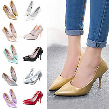 Women Ladies Casual Party Stiletto Pointed-toe Cave High Heel Pump Wedding Shoes