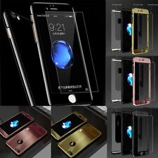 for iPhone 6 6S 7 Plus Case And Tempered Glass Screen Protector Cover Skin