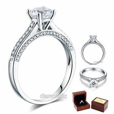 1.25 Ct Lab Created Diamond Engagement Ring 925 Sterling Silver Wedding Bridal
