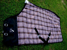 Horse Cotton Sheet Blanket Rug Summer Spring Pink Brown 5327