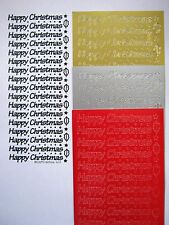 2 sheets of peel offs - HAPPY CHRISTMAS - #409