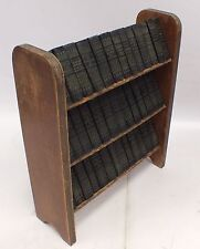 Vintage 1930s WILLIAM SHAKESPEARE Complete MINIATURE LIBRARY w/ Bookcase - G17