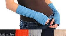Fingerless Acrylic Sweater Knit Gloves/Arm Warmers OS 5 Colors