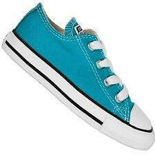 CONVERSE BABY LL STAR CHUCK TAYLOR OX SHOES CYAN SPACE BLUE CHILDREN'S SNEAKERS
