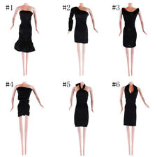 Handmake Black Wedding Party Dress Clothes Fashion Clothing for Barbie Dolls