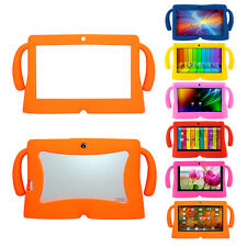 "7"" Inch Soft Silicone Gel Cover Case For Q88 Android Kids Pad Tablet PC Rainbow"