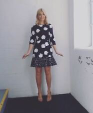Warehouse Daisy Peplum Dress Size 12 As Seen On Holly Willoughby