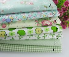 "(19""x19"") Green Fat Quarter Bundle Quilt Quilting 100%cotton Fabric Sewing DIY"