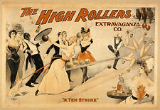Photo Print Vintage Poster: Stage Theatre Flyer The High Rollers 04