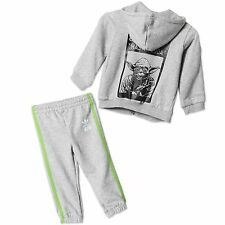 Adidas Kids Star Wars Yoda Jogging Suit Baby Trackies Bright Trousers Jacket