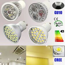 WARM PURE White 7W GU10 DIMMABLE CREE LED Light Bulb Downlights Energy Saving