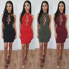 Sexy Women Bandage Bodycon Backless Evening Party Cocktail Club Short Mini Dress