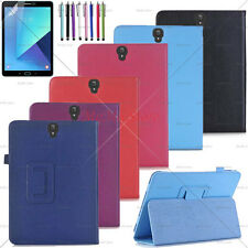 "Samsung Galaxy Tab S3 9.7"" case Folio Stand PU Leather Free Screen Protector+Pen"