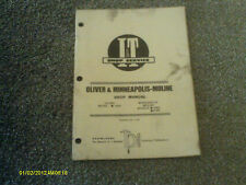 OLIVER & MINNEAPOLIS-MOLINE SHOP MANUAL