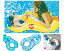 New Inflatable Mother Baby Swimming Ring with Seat Floaties Swim Pool Float Toy