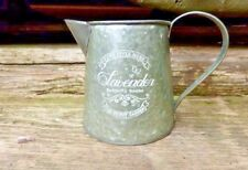 SHABBY CHIC METAL JUG PITCHER LAVENDER BUTTERFLY HOUSE VINTAGE WEDDING FLOWERS