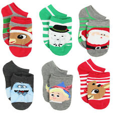 Rudolph the Red Nosed Reindeer Boys 6 pack Socks (Toddler) 3053XH