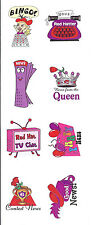 "Red Hat Stickers/ 1"" / 2 Sheets of 4 / News or Games / Cards Scrapbook or Crafts"