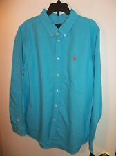 NWT Boys Size XL 18-20 Aqua Polo Ralph Lauren Long Sleeve Shirt New $49.50