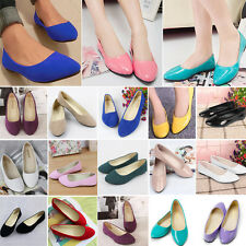Womens Ballerina Ballet Dolly Pumps Summer Ladies Flats Loafers Shoes Slip-on