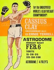 """MUHAMMAD ALI 1967 Cassius Clay BOXING Ernie Terrell = POSTER = 7 SIZES 19"""" - 36"""""""