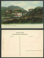 Hong Kong China Old Colour Postcard View of The Peak, Mountains Houses Buildings