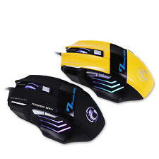 2016 7 Button LED Optical USB Wired Gaming Mouse Mice for LOL RAZER WOW CF CS