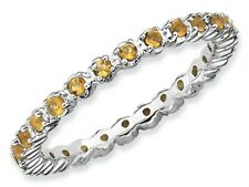Stackable Expressions Sterling Silver Citrine Stackable Ring