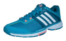 adidas Barricade Club Womens Tennis Trainers / Shoes - Blue and Green
