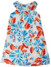 Mini Boden girls summer dress white blue orange new age 2-10 years sun