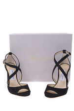 Jimmy Choo Shoes Pumps -15% Leather Peep Toe Italy Woman Black CARRIE100-247