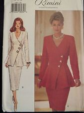 OOP BUTTERICK 3186 Fit & Flared Top & Skirt PATTERN 6-8-10/12-14-16/18-20-22 UC