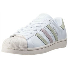 adidas Superstar W Womens Trainers White Green New Shoes
