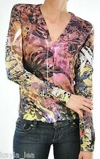 Multi Tiger Lily/Leopard Sublimation Long Sleeve Cardigan/Cover-Up S/M/L