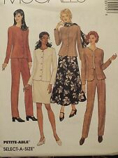 OOP McCALLS 8911 Jacket Pants Skirts Scarf PATTERN 8-10-12-14-16-18-20-22-24 UC