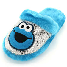 Cookie Monster Girls Blue Scuff Slippers E20017G 11/2 13/1 2/3