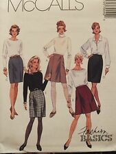 OOP McCALLS 7904 MS/Wmn Skirts~5 Varistions PATTERN 8-10-12-14-16-18-20-22-24 UC