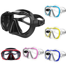 Silicone Seal Snorkel Scuba Tempered Glass Lens Mask Diving Equipment Little
