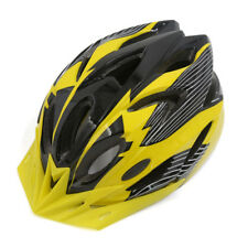 18 Vents Striped Adjustable Road Bike Bicycle Cycling Helmet w Removable Visor