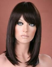 Ladies Long Straight Dark Brown Fashion Wig Forever Young Wigs