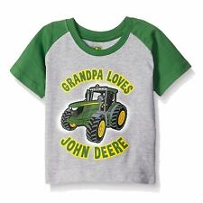 John Deere Infant Boys Grandpa Loves Big Tractor Raglan T-Shirt