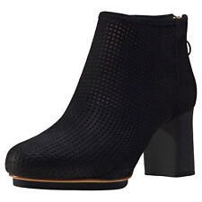 Camper Myriam Perforated Leather Heel Womens Shoes Black New Shoes