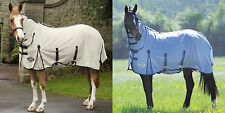 SHIRES ATTACHED NECK MAXI FLOW COMBO + BELLY FLAP MAXIFLOW HORSE FLY RUG/SHEET