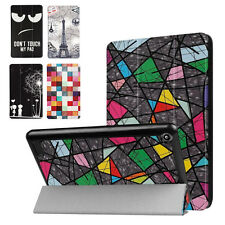 Folding Stand Painted Leather Case Cover For Amazon Kindle Fire 7 2017 Case Skin