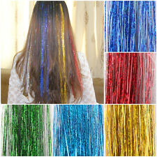 HAIR TINSEL, Hair extensions Sparkling Turquois 250 Strands Salon Grade SILK