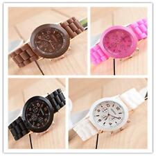 Quartz Wrist Watch Student Candy Jelly Gel Silicone Rubber Strap Sport  Watches